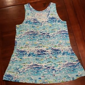 Lilly High Tide Toile tank